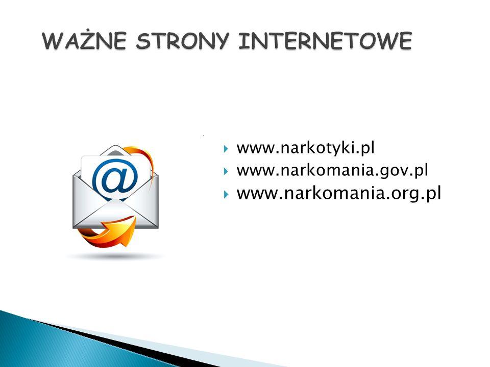  www.narkotyki.pl  www.narkomania.gov.pl  www.narkomania.org.pl