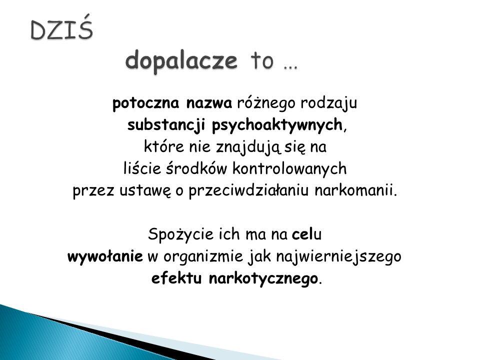 potoczna nazwa różnego rodzaju substancji psychoaktywnych, które nie znajdują się na liście środków kontrolowanych przez ustawę o przeciwdziałaniu narkomanii.