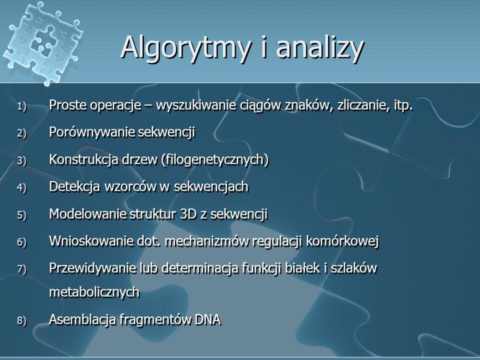 Algorytmy i analizy 1) Proste operacje – wyszukiwanie ciągów znaków, zliczanie, itp.