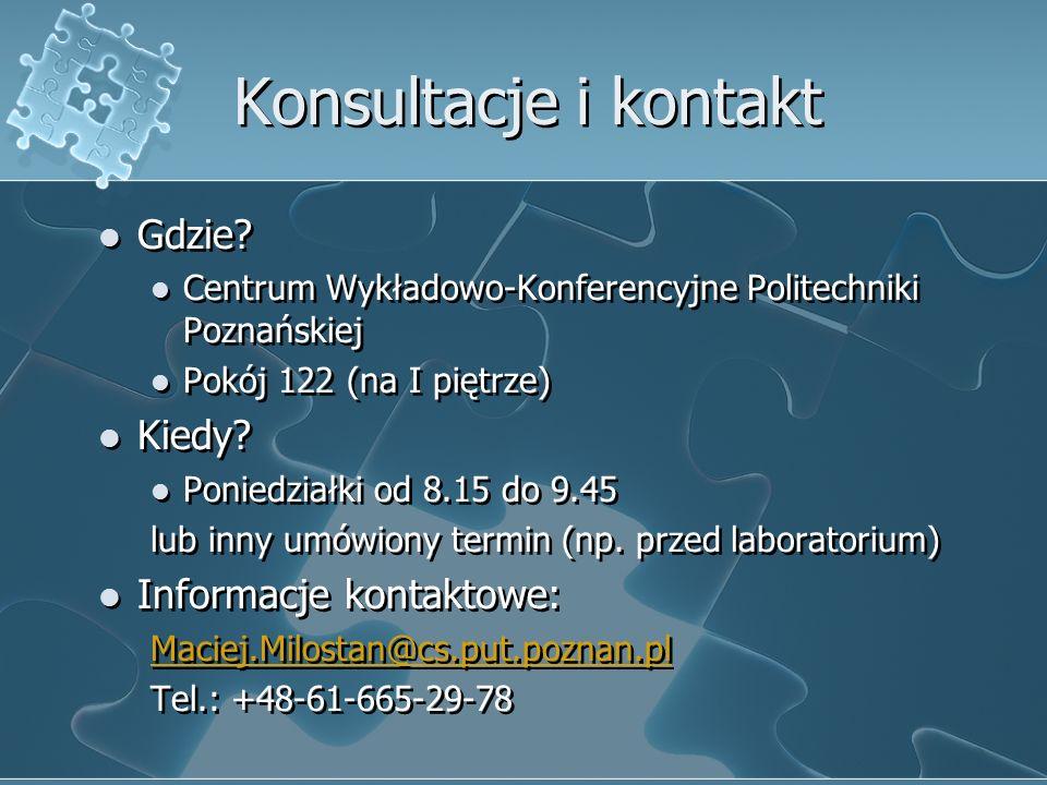 Konsultacje i kontakt Gdzie.