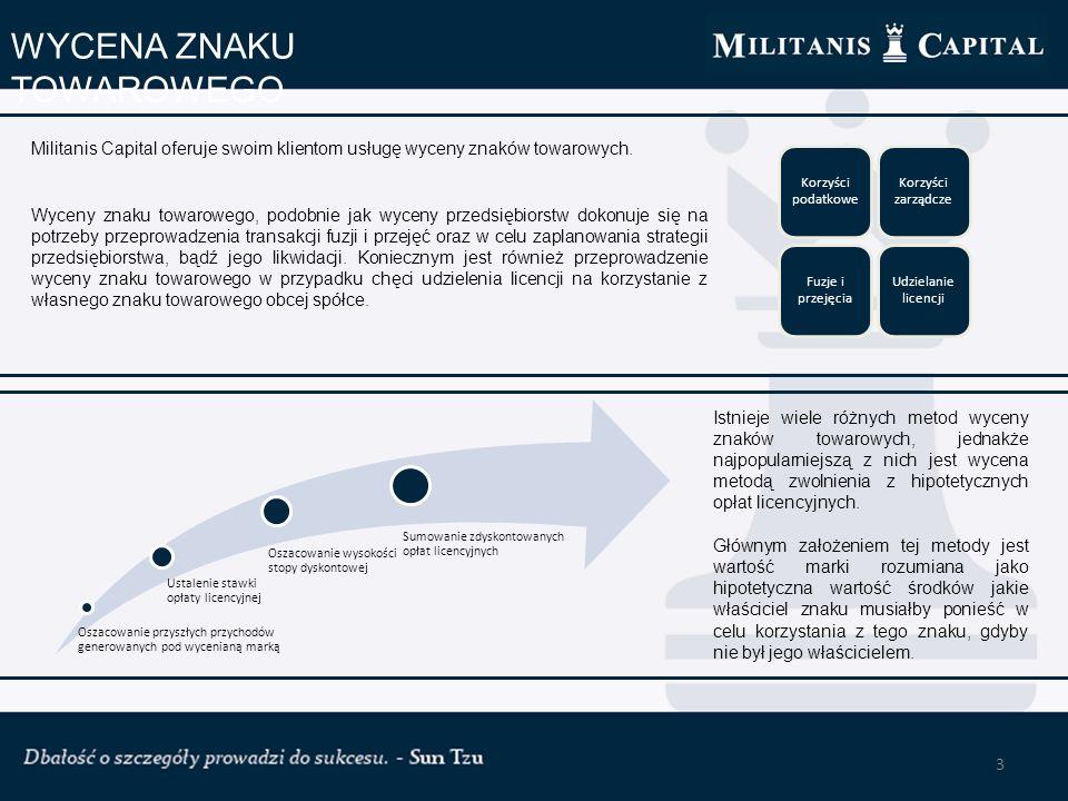 4 POZYSKIWANIE INWESTORA Militanis Capital oferuje klientom kompleksową pomoc w procesie pozyskiwania inwestorów.