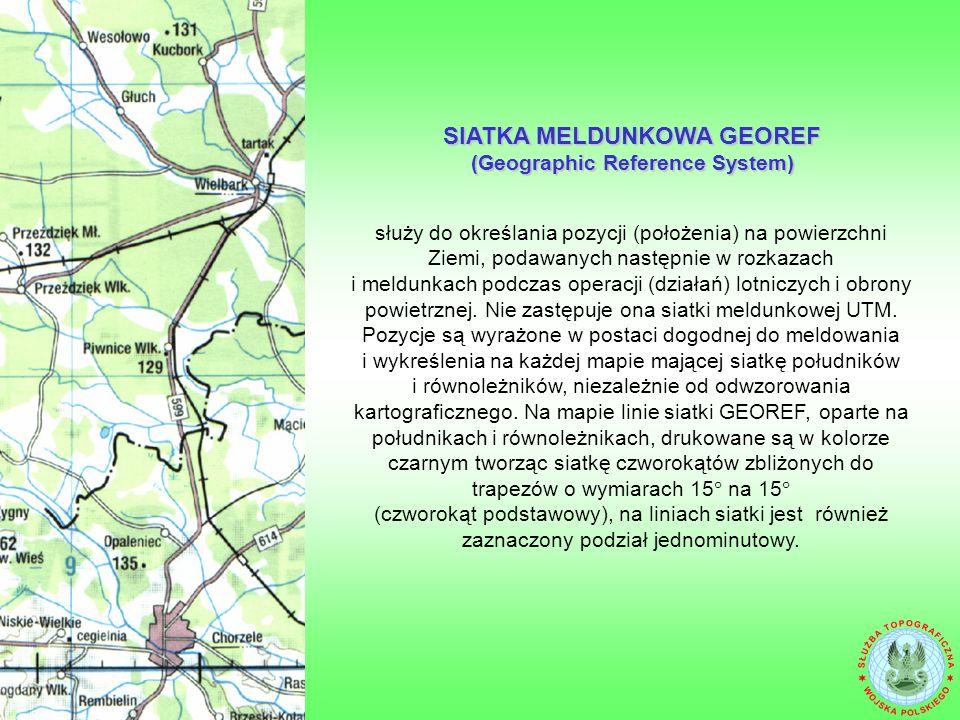 BUDOWA SYSTEMU MELDUNKOWEGO UTM (Universal Transverse Mercator)