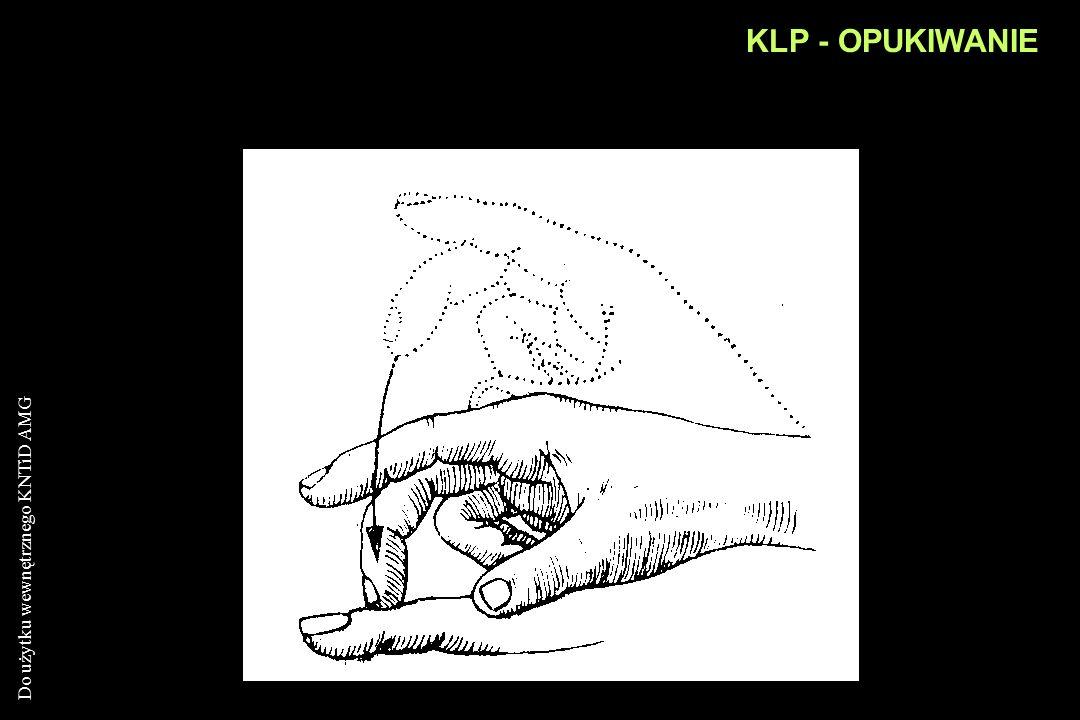 Do użytku wewnętrznego KNTiD AMG KLP - OPUKIWANIE