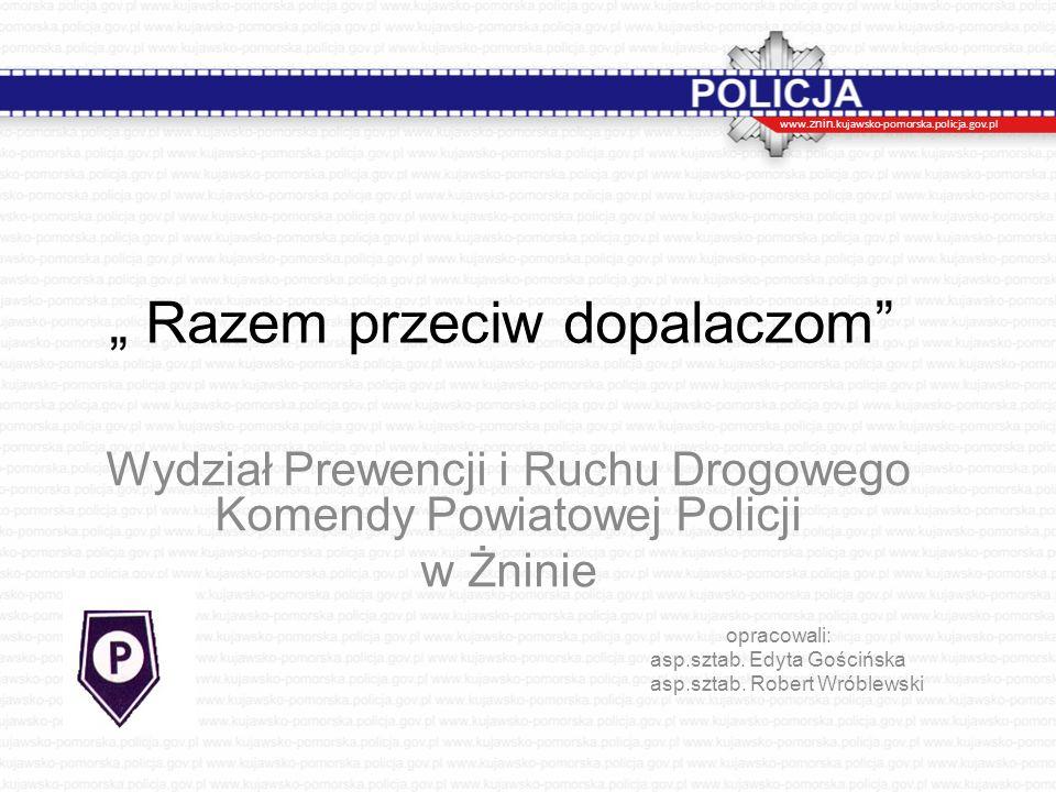 Narkotyki w powiecie żnińskim w liczbach Ogólna liczba osób zatrzymanych w związku z przestępstwami narkotykowymi : Rok 2014 : 39 Rok 2015 : 32 (do 30 listopada)