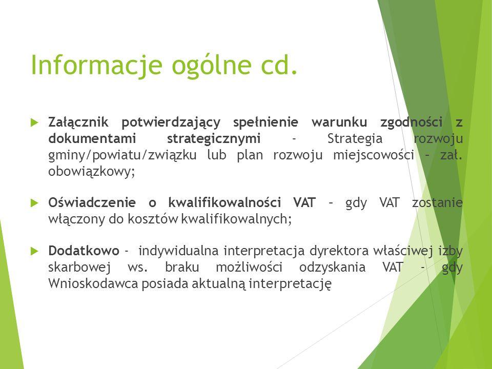 Informacje ogólne cd.