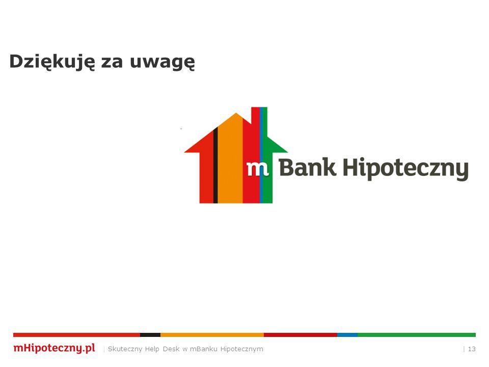 Dziękuję za uwagę | 13| Skuteczny Help Desk w mBanku Hipotecznym