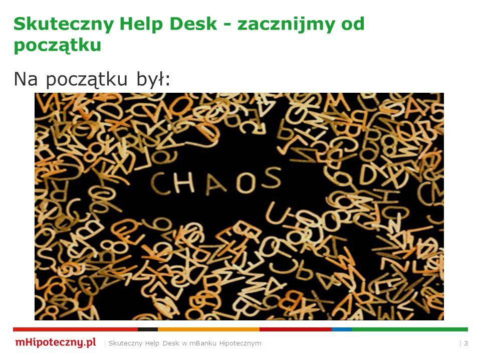 | 3 Skuteczny Help Desk - zacznijmy od początku Na początku był: | Skuteczny Help Desk w mBanku Hipotecznym