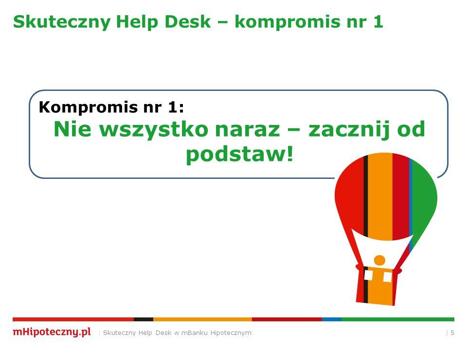| 5 Skuteczny Help Desk – kompromis nr 1 | Skuteczny Help Desk w mBanku Hipotecznym Kompromis nr 1: Nie wszystko naraz – zacznij od podstaw!