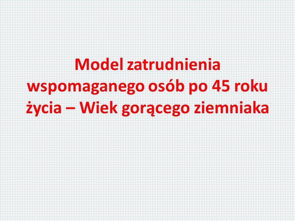 Model zatrudnienia wspomaganego osób po 45 roku życia – Wiek gorącego ziemniaka
