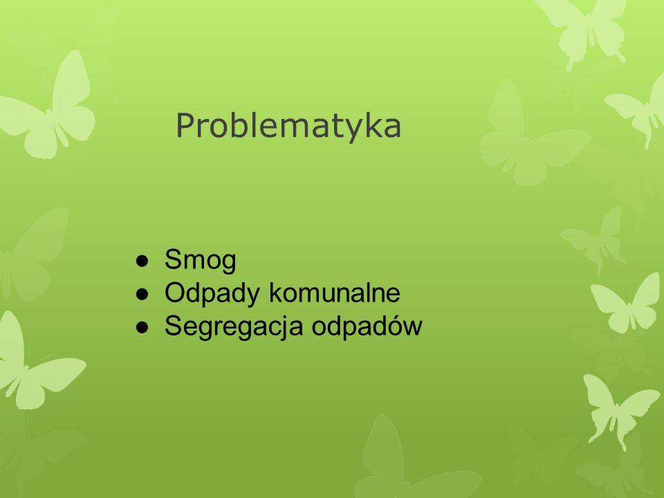 Problematyka ●Smog ●Odpady komunalne ●Segregacja odpadów