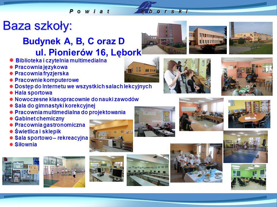 P o w i a t ę b o r s k i Baza szkoły: Centrum Kształcenia Praktycznego ul.