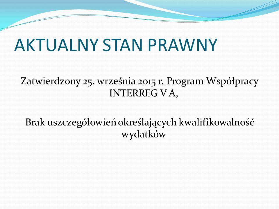 AKTUALNY STAN PRAWNY Zatwierdzony 25. września 2015 r.