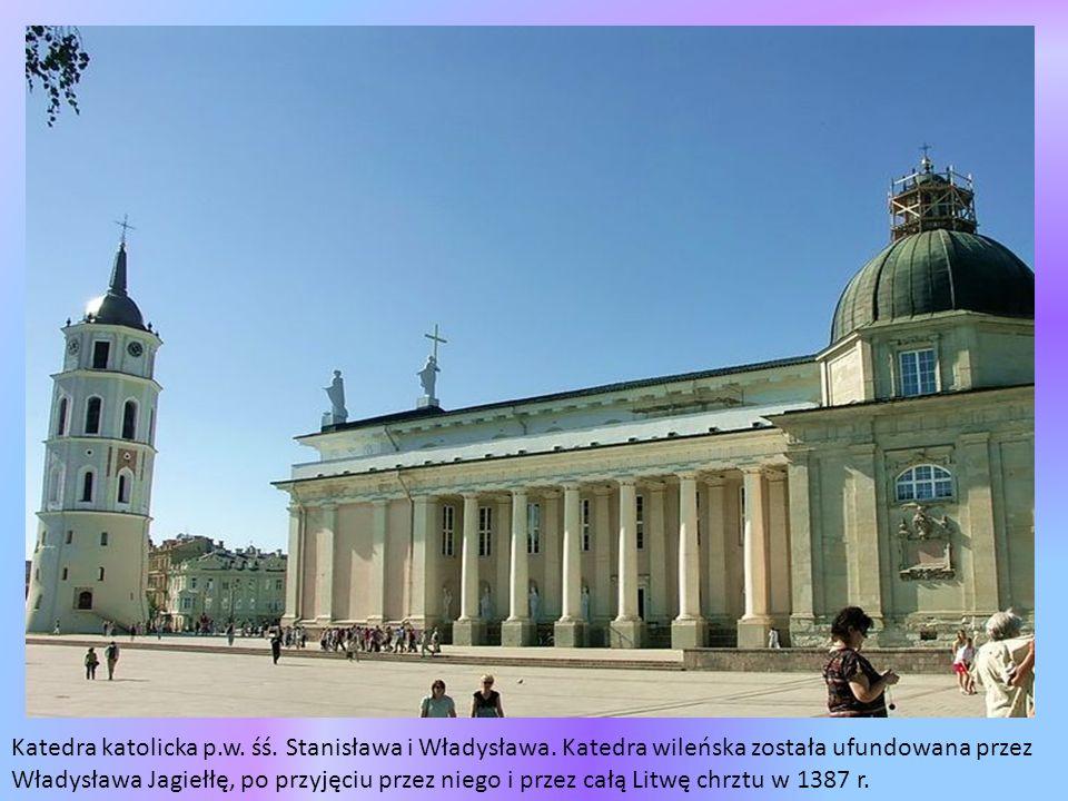Pomnik Giedymina - wielki książę litewski panujący w latach 1316-1341, dziad Jagiełły.