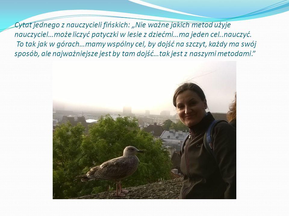 """Cytat jednego z nauczycieli fińskich: """"Nie ważne jakich metod użyje nauczyciel…może liczyć patyczki w lesie z dziećmi…ma jeden cel..nauczyć. To tak ja"""