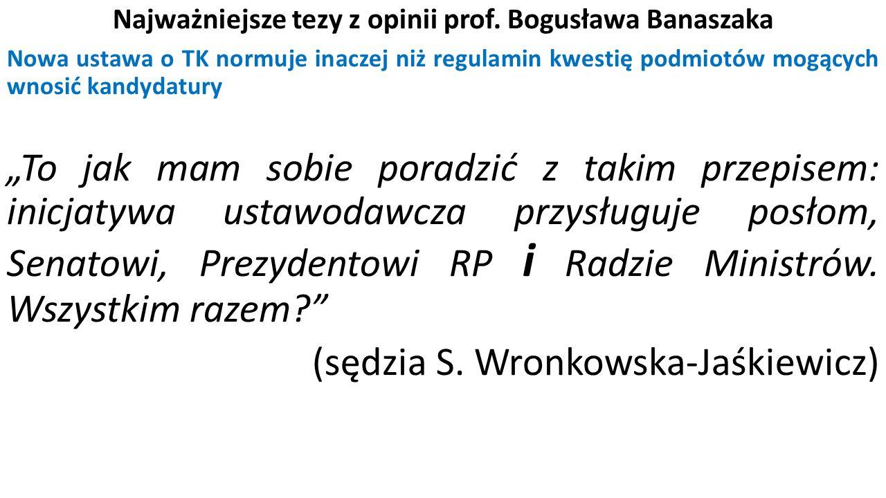 Najważniejsze tezy z opinii prof.