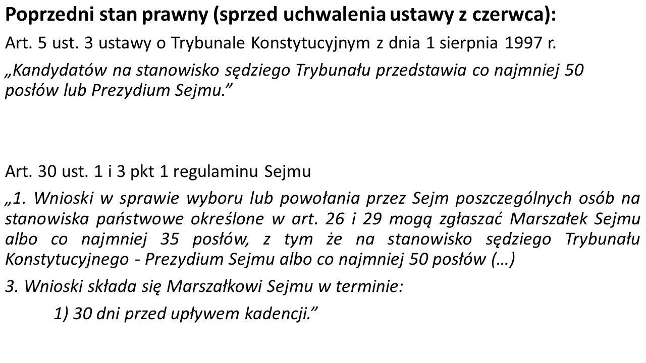 Uchwały o stwierdzeniu braku mocy prawnej innej uchwały Sejmu Art.