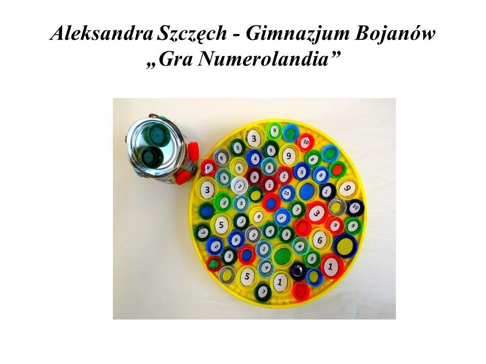 """Aleksandra Szczęch - Gimnazjum Bojanów """"Gra Numerolandia"""""""