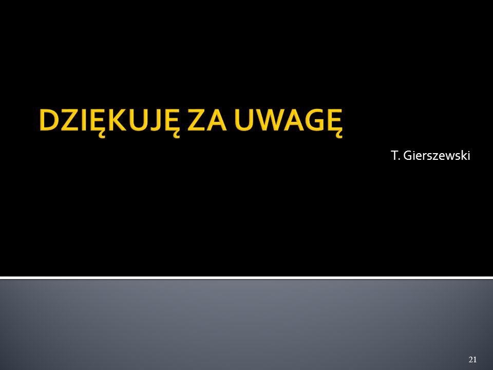 T. Gierszewski 21