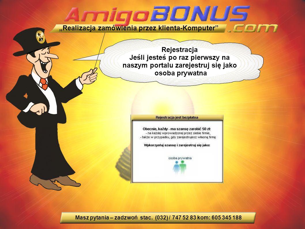 Rejestracja Jeśli jesteś po raz pierwszy na naszym portalu zarejestruj się jako osoba prywatna Masz pytania – zadzwoń stac.