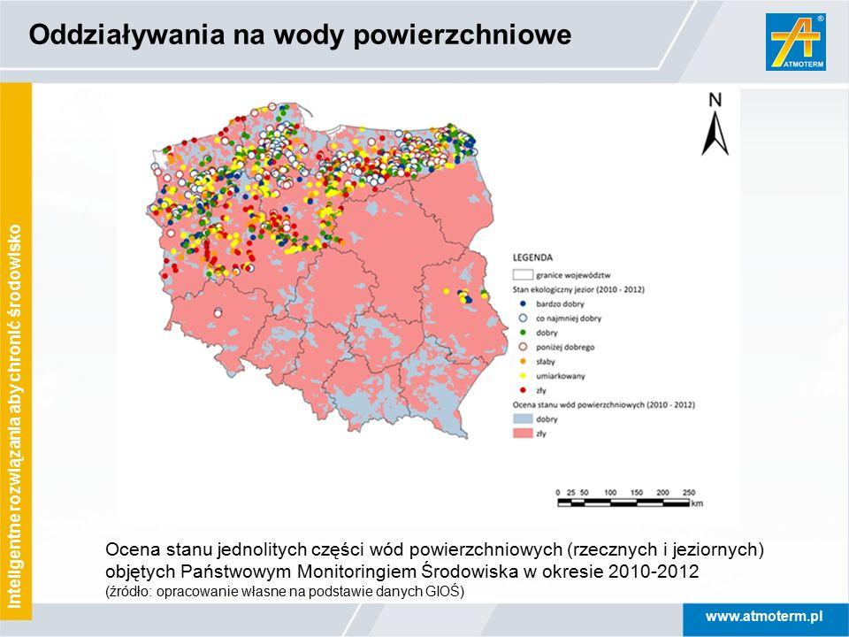 www.atmoterm.pl Inteligentne rozwiązania aby chronić środowisko Oddziaływania na wody powierzchniowe Ocena stanu jednolitych części wód powierzchniowy