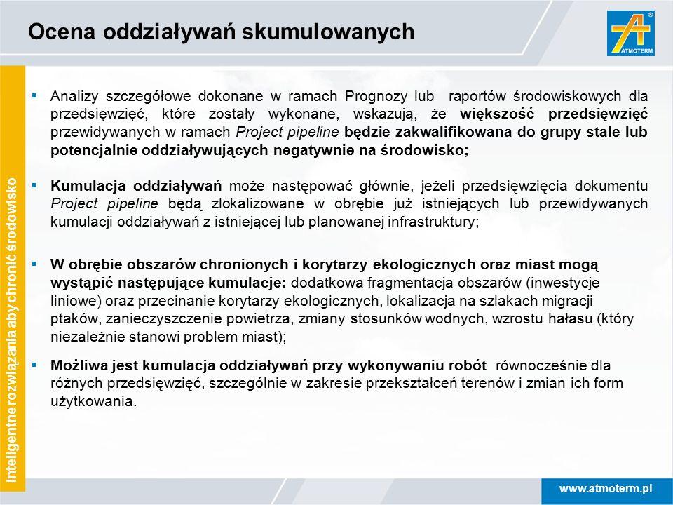 www.atmoterm.pl Inteligentne rozwiązania aby chronić środowisko Ocena oddziaływań skumulowanych  Analizy szczegółowe dokonane w ramach Prognozy lub r