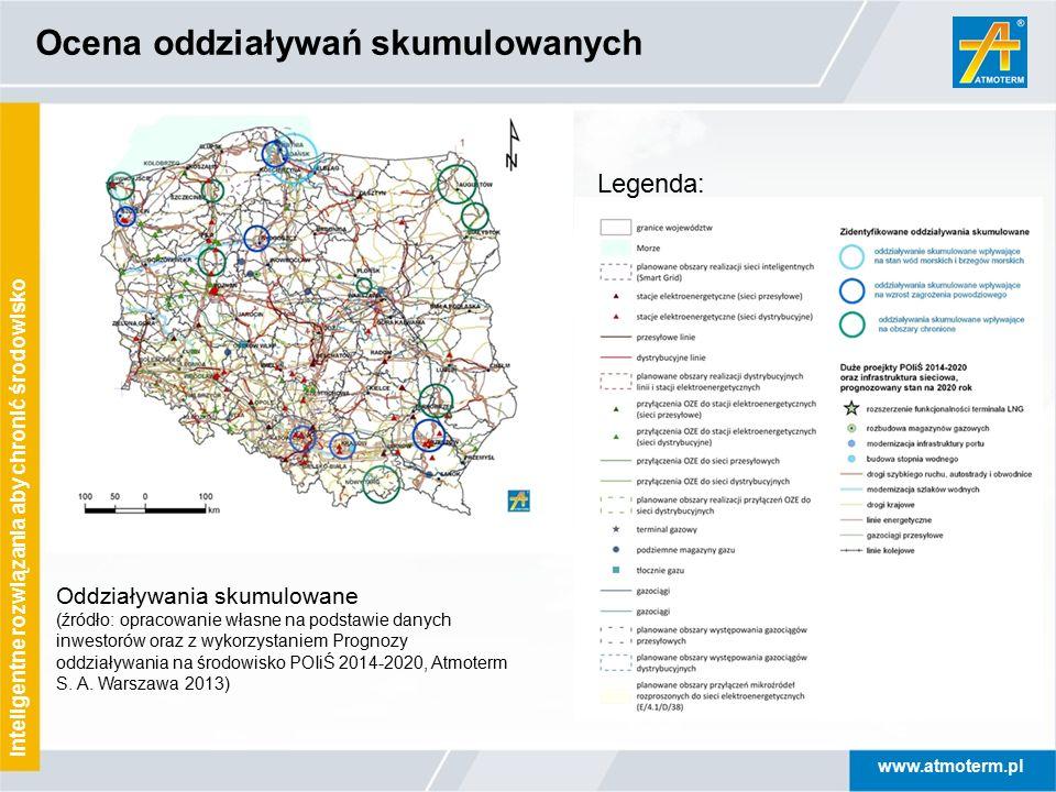 www.atmoterm.pl Inteligentne rozwiązania aby chronić środowisko Ocena oddziaływań skumulowanych Legenda: Oddziaływania skumulowane (źródło: opracowani
