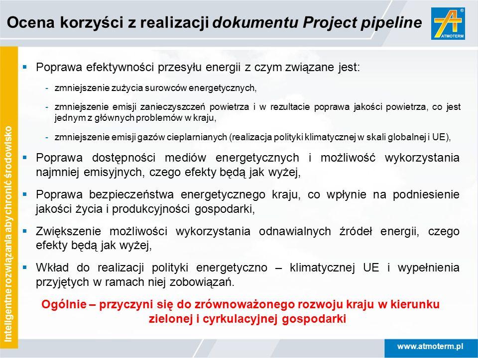 www.atmoterm.pl Inteligentne rozwiązania aby chronić środowisko  Poprawa efektywności przesyłu energii z czym związane jest: - zmniejszenie zużycia s