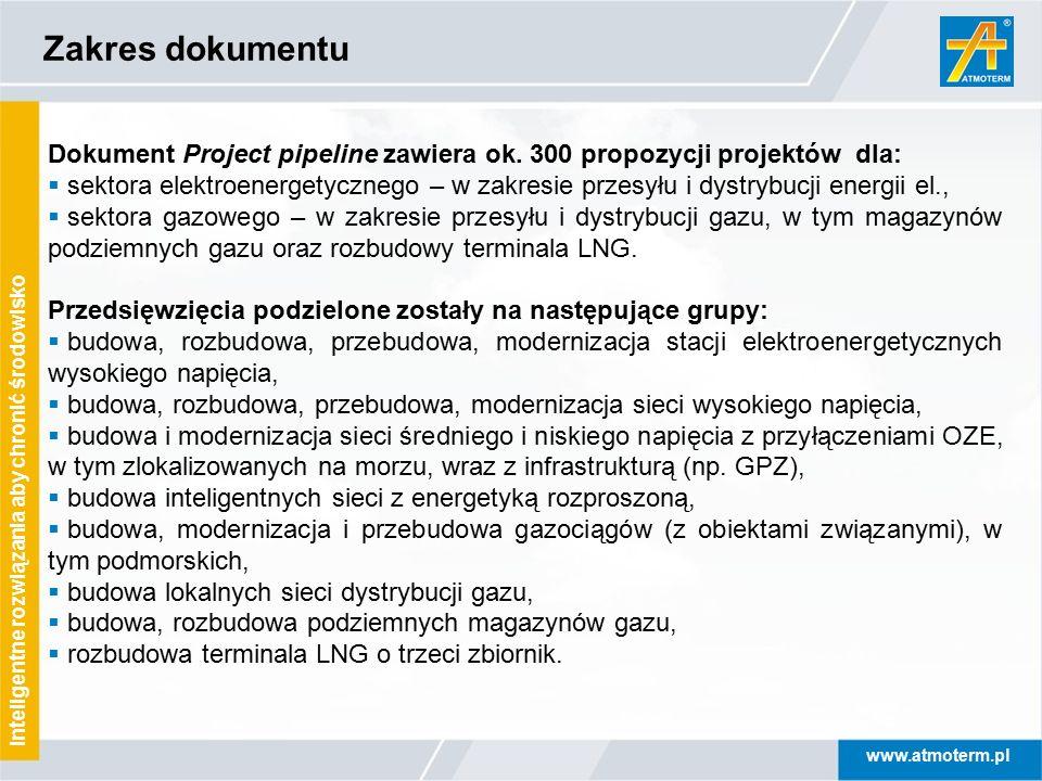 www.atmoterm.pl Inteligentne rozwiązania aby chronić środowisko Dokument Project pipeline zawiera ok. 300 propozycji projektów dla:  sektora elektroe