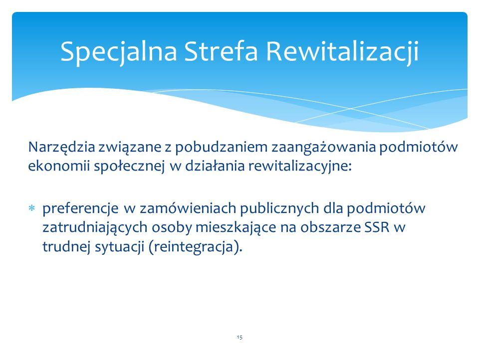 Narzędzia związane z pobudzaniem zaangażowania podmiotów ekonomii społecznej w działania rewitalizacyjne:  preferencje w zamówieniach publicznych dla