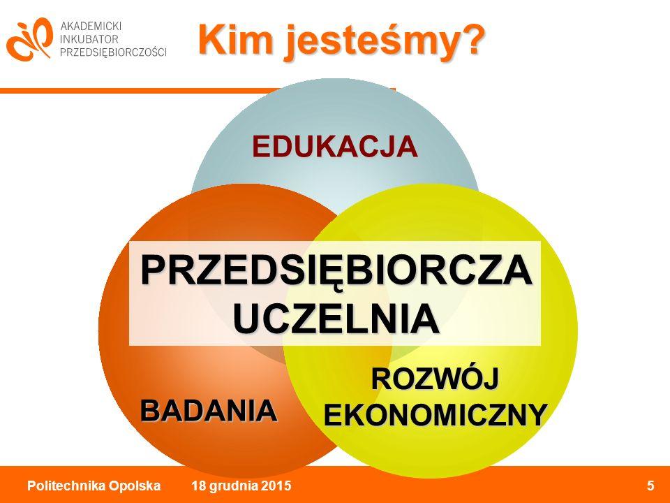 18 grudnia 20155Politechnika Opolska Kim jesteśmy.