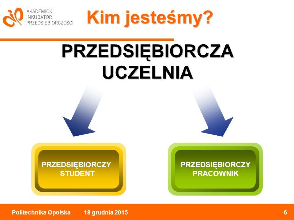 18 grudnia 20156Politechnika Opolska Kim jesteśmy.