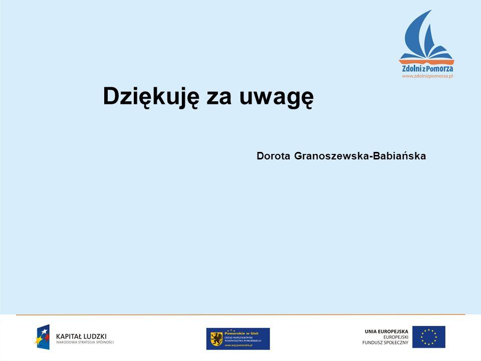 Dziękuję za uwagę Dorota Granoszewska-Babiańska