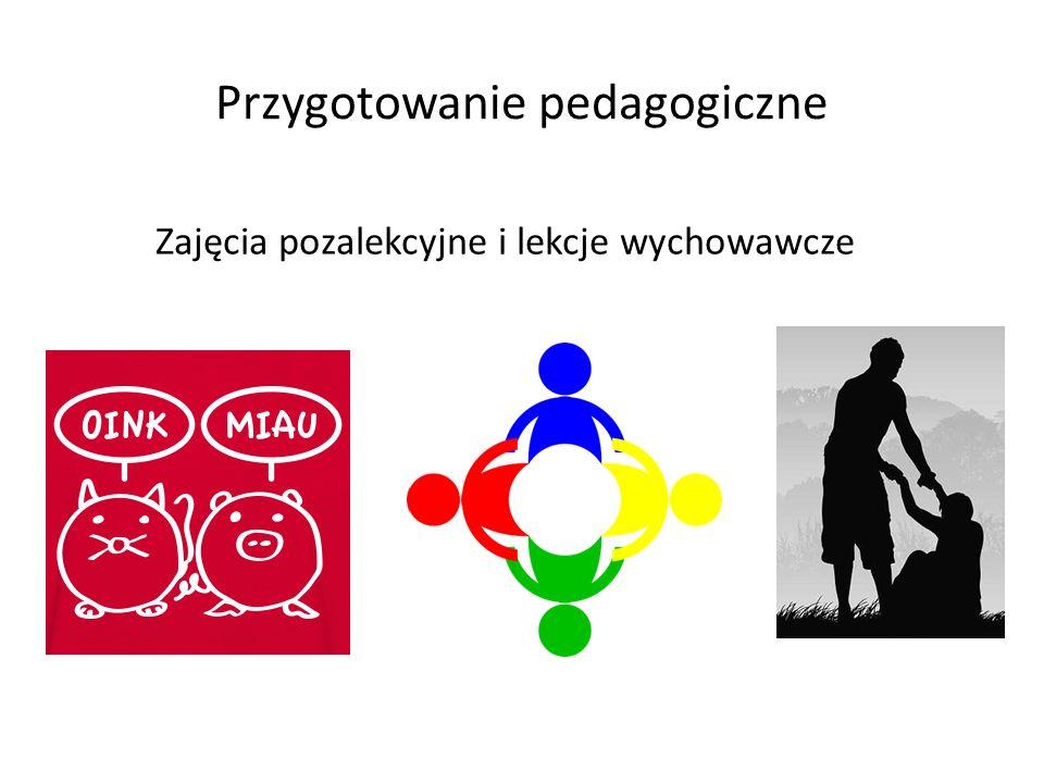 Przygotowanie pedagogiczne Zajęcia pozalekcyjne i lekcje wychowawcze