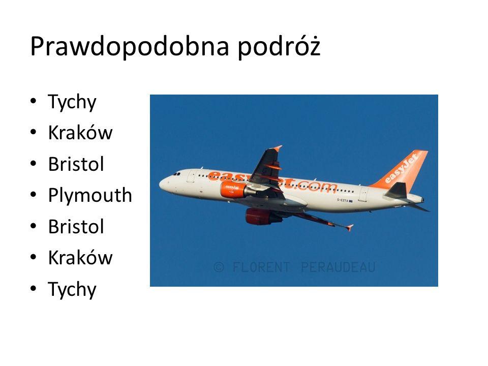 Prawdopodobna podróż Tychy Kraków Bristol Plymouth Bristol Kraków Tychy