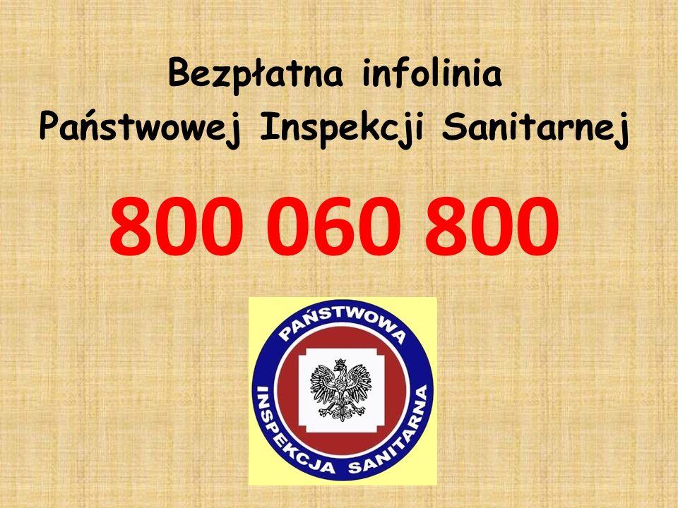 Bezpłatna infolinia Państwowej Inspekcji Sanitarnej 800 060 800