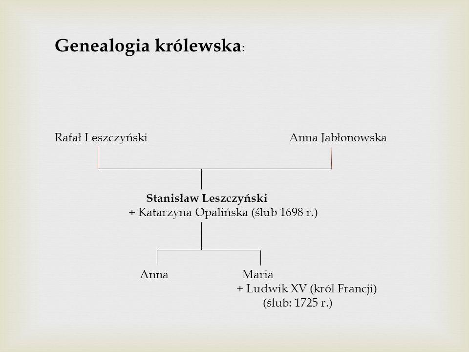 Stanisław Leszczyński i Katarzyna z Opalińskich Leszczyńska zamieszkali w Rydzynie