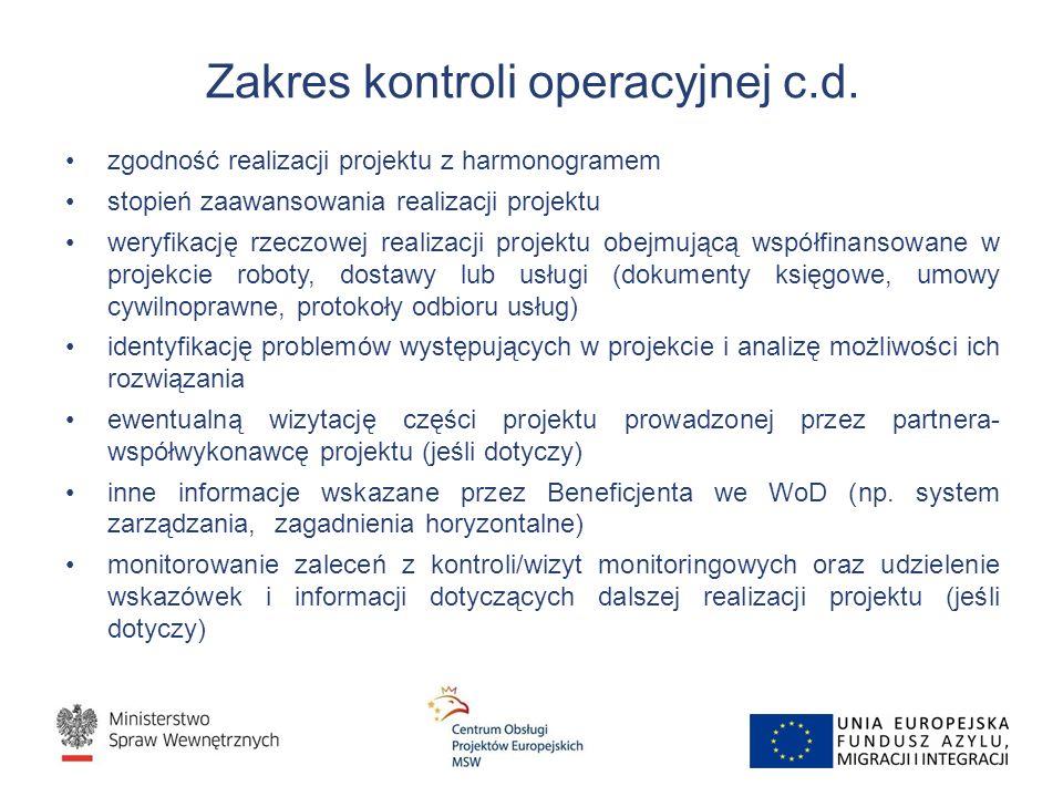 Zakres kontroli operacyjnej c.d.