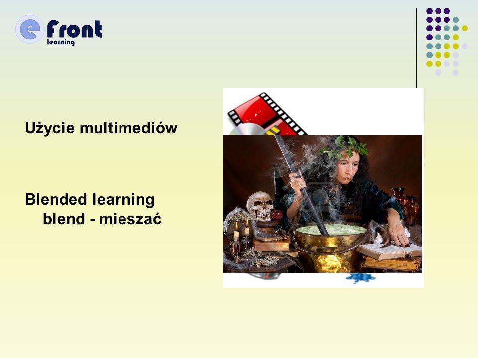 Użycie multimediów Blended learning blend - mieszać