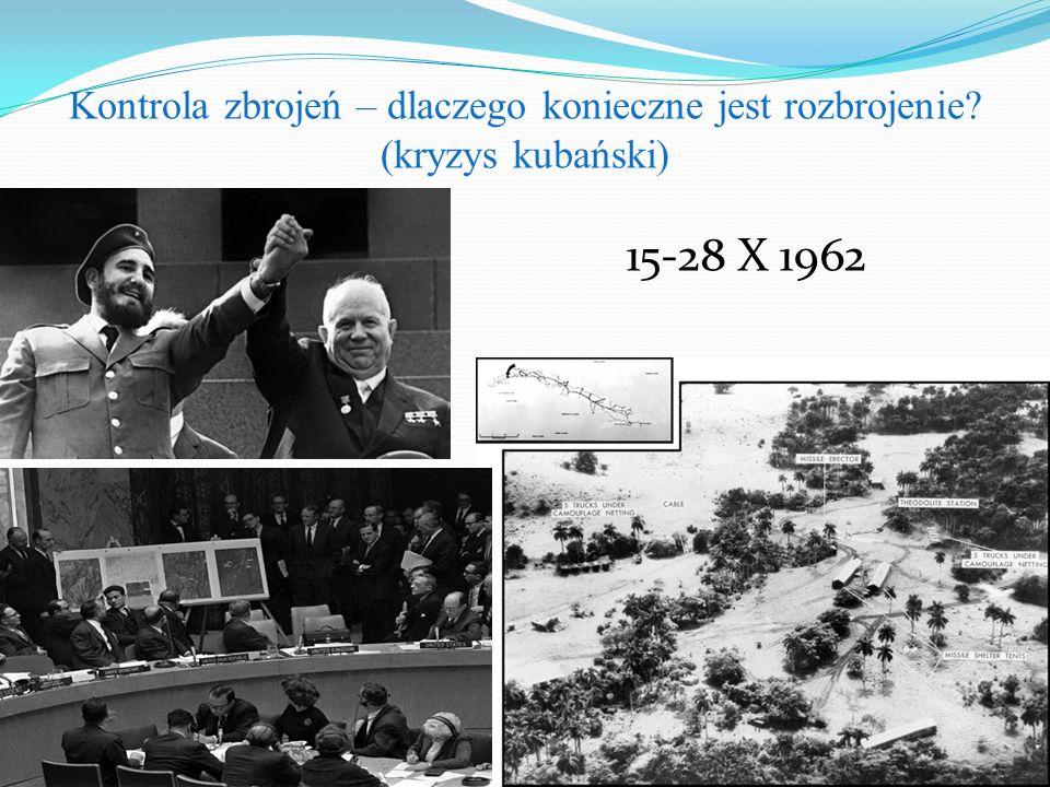 Kontrola zbrojeń – dlaczego konieczne jest rozbrojenie? (kryzys kubański) 15-28 X 1962