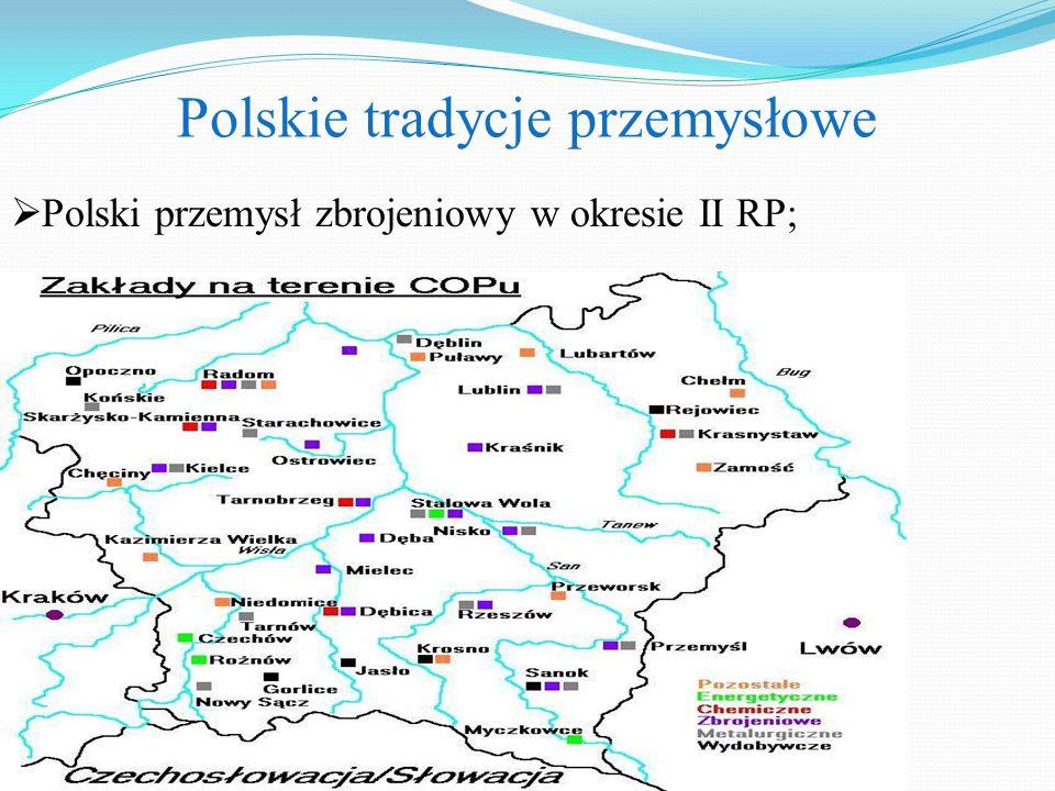 Polskie tradycje przemysłowe  Polski przemysł zbrojeniowy w okresie II RP;