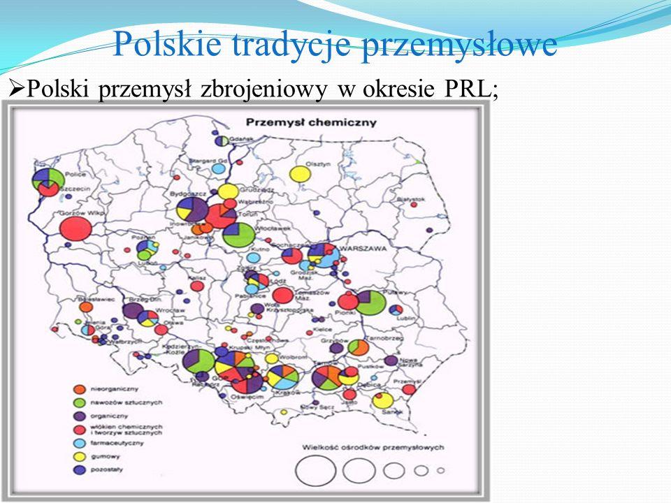 Polskie tradycje przemysłowe  Polski przemysł zbrojeniowy w okresie PRL;