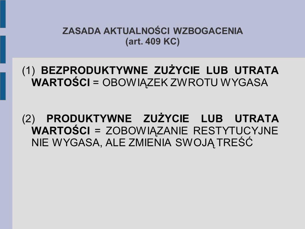 ZASADA AKTUALNOŚCI WZBOGACENIA (art.