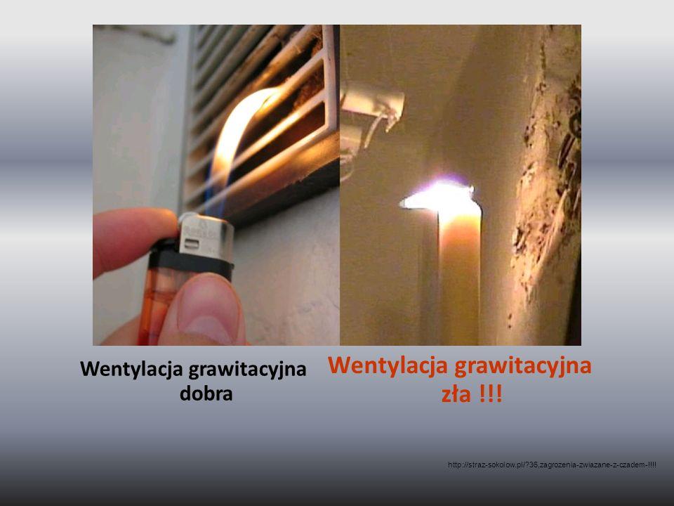 Wentylacja grawitacyjna dobra Wentylacja grawitacyjna zła !!! http://straz-sokolow.pl/?36,zagrozenia-zwiazane-z-czadem-!!!!