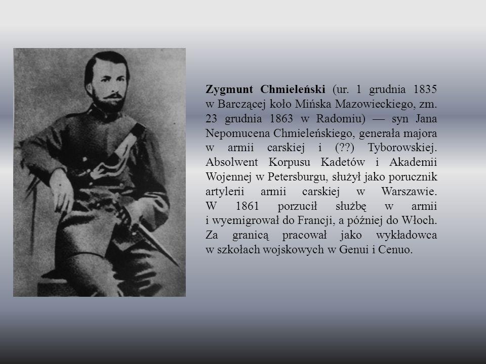 Zygmunt Chmieleński (ur. 1 grudnia 1835 w Barczącej koło Mińska Mazowieckiego, zm. 23 grudnia 1863 w Radomiu) — syn Jana Nepomucena Chmieleńskiego, ge