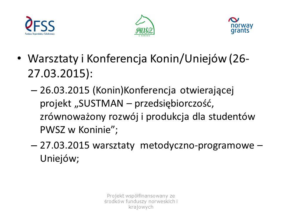 26.03.2015 (Konin): – Otwarcie konferencji w imieniu prof.