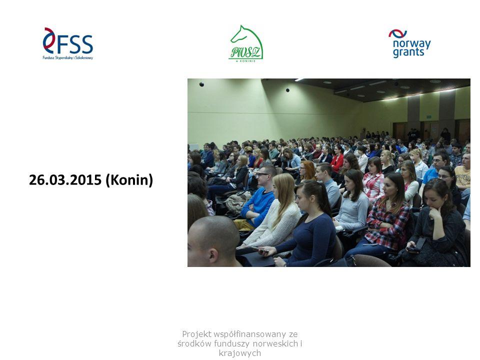 "21.04.2015 – Gjøvik ""Høgskolen i Gjøvik-HiG Projekt współfinansowany ze środków funduszy norweskich i krajowych"