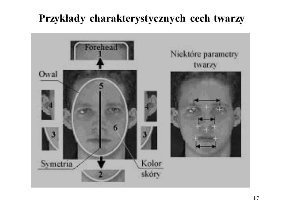 17 Przykłady charakterystycznych cech twarzy