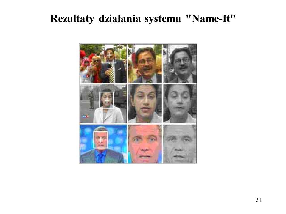 31 Rezultaty działania systemu Name-It