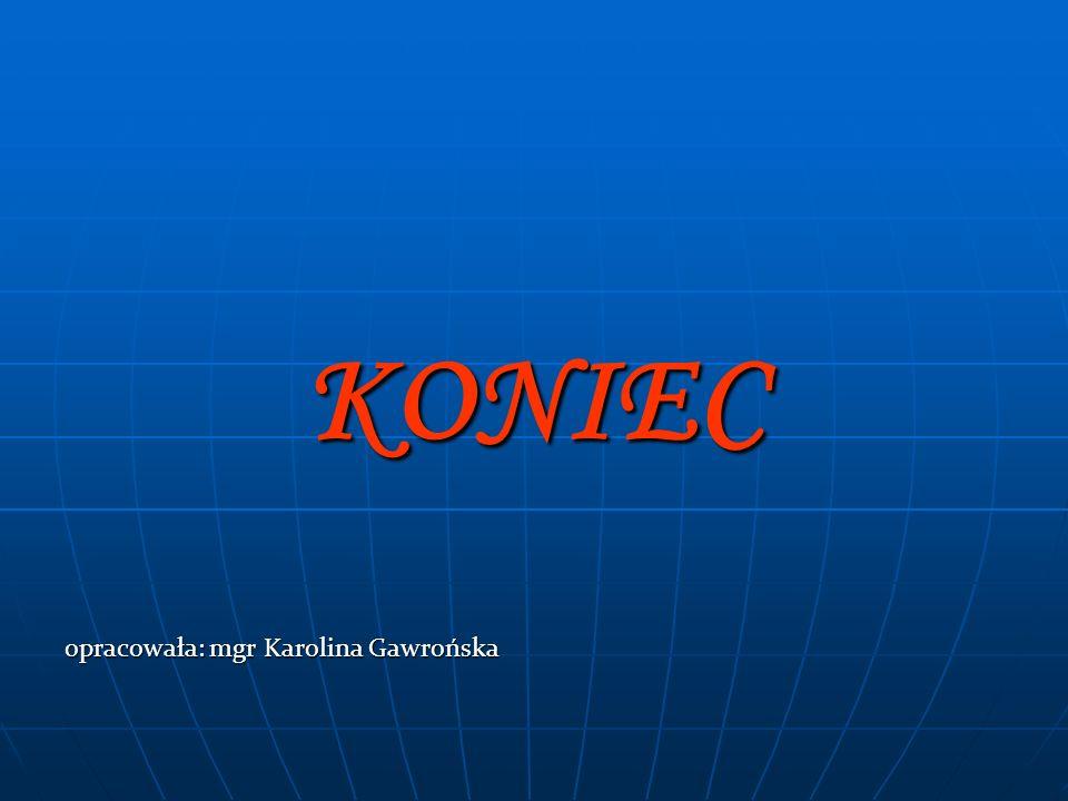 KONIEC opracowała: mgr Karolina Gawrońska