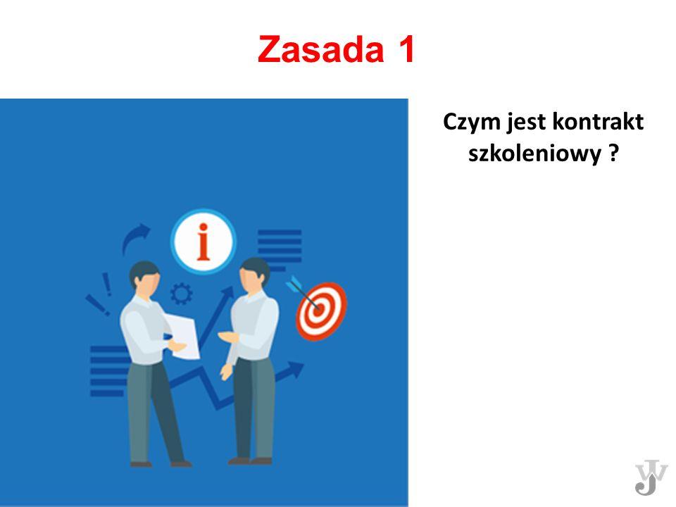 Zasada 1 Czym jest kontrakt szkoleniowy ?